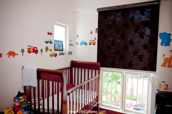 Dim Out Roller Blinds in The Baby Room