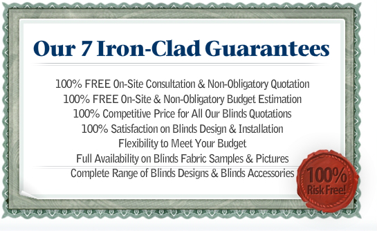 7 Blinds Services Guarantee