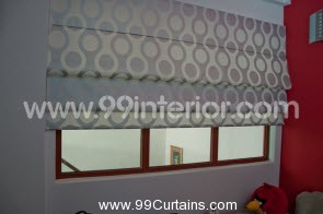 Roman Blinds with Lights Off